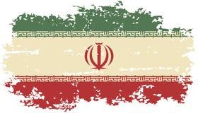 Iranian grunge flag. Vector illustration. Royalty Free Stock Images