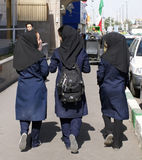 Iranian Highschool Girls Stock Photo