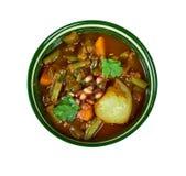 Iranian Khoresht Loobia Sabz. Iranian cuisine - Khoresht Loobia Sabz, Persian Green Bean Stew Royalty Free Stock Photo