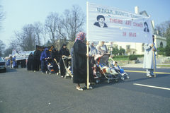 Iranian mothers marching in protest,. Washington D.C Royalty Free Stock Photography