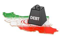 Iranian national debt or budget deficit, financial crisis concep Stock Image
