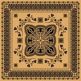 Iranian ornament. Iranian black symmetric ornament on a beige background Stock Images