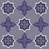 Iranian pattern 31. Floral abstract seamless pattern from decorative ethnic ornament elements Royalty Free Stock Images