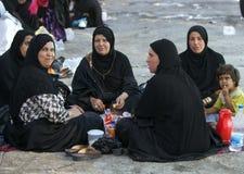 Iranian Pilgrims Stock Images