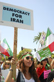 Iranian Protest Demonstration in Los Angeles Stock Images