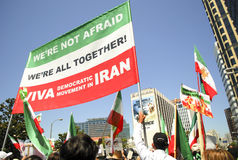 Iranian Protest Demonstration in Los Angeles Stock Photography
