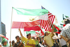 Iranian Protest Demonstration in Los Angeles Royalty Free Stock Photo