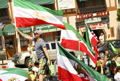 Iranian Protest Demonstration in Los Angeles Royalty Free Stock Images