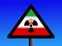 Iranian radioactivity sign Stock Images