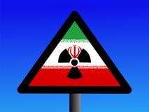 Iranian radioactivity sign royalty free illustration