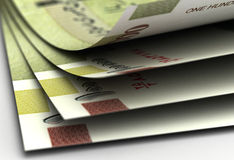 Iranian Rial Closeup Stock Photography