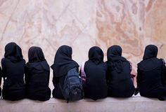 Iranian schoolgirls. See more similar images in my portfolio Royalty Free Stock Photography