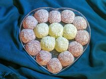 Iranian Sweets in the form of a heart royalty free stock photography