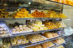 Iranian sweets in a shop, Isfahan, Iran stock photo