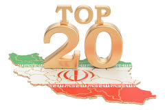 Iranian Top 20 concept, 3D rendering. On white background Royalty Free Stock Image