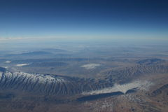 Iranian Valleys. Spectacular scenery flying over Iran Stock Images
