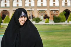 An Iranian woman on Imam Square,Isfahan Iran Royalty Free Stock Photography