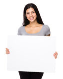 Iranian woman show with white board Stock Photos