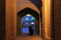 Iranian women on the old esfahan street Royalty Free Stock Photo