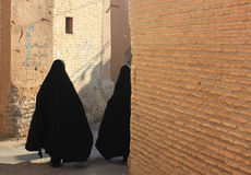 Iranian women on the street Royalty Free Stock Photography