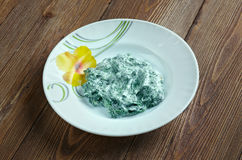 Iranian Yogurt and Spinach Dip Royalty Free Stock Image