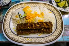 Iraniano Kabab Koobideh imagens de stock