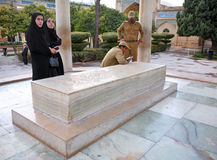 Iranians visiting the Tomb of Persian poet Hafez in Shiraz Stock Image