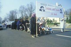 Iranier mothers marsch i protest, Royaltyfri Fotografi