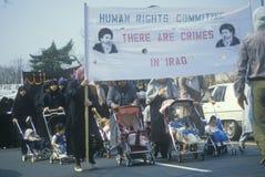 Iranier mothers marsch i protest Fotografering för Bildbyråer