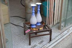 Iranische Metallarbeit in Isfahan Lizenzfreie Stockfotos