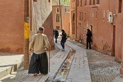 Iranischer älterer Mann im Bergdorf, Abyaneh, der Iran Lizenzfreies Stockbild