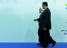 Iranischer Präsident Hasan Rouhani und venezolanischer Präsident Nicolas Maduro Lizenzfreie Stockbilder