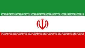Iransk flagga, plan orientering, illustration Arkivbild