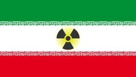 iranskt kärn- hot royaltyfri fotografi