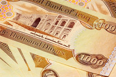 Iraq 1000 Dinar Note CBI Royalty Free Stock Photo