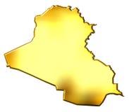 Iraq 3d Golden Map Vector Illustration