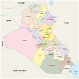 Iraq administrative divisions map Stock Image