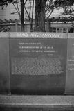 Iraq Afghanistan Wall of rememberance B/W Royalty Free Stock Photo