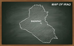 Iraq on blackboard Royalty Free Stock Photography
