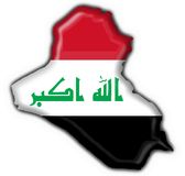 Iraq button flag map shape Stock Photography