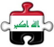 Iraq button flag puzzle shape Stock Photo