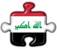 Iraq button flag puzzle shape Stock Photo