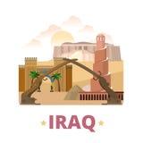 Iraq country design template Flat cartoon style we stock illustration