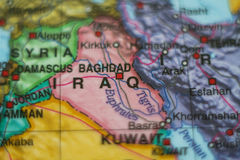 Iraq country on map . Stock Images