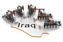 iraq dźwigarek mapy nafciana pompa royalty ilustracja