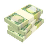 Iraq dinars bills isolated on white background. Stock Image