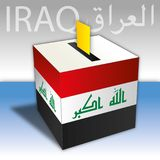 Iraq elections, box vote, vector illustration Royalty Free Stock Photography