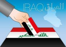 Iraq elections, box vote, vector illustration Royalty Free Stock Photo