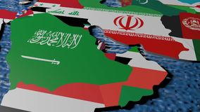 Iraq en el mapa 3D stock de ilustración