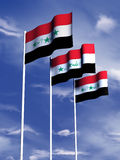 Iraq flag. The flag of Iraq flying in a gentle breeze royalty free illustration